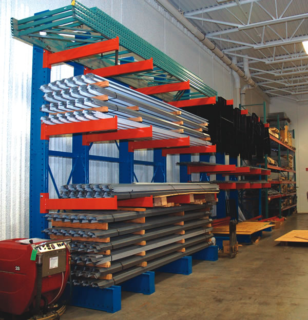 Cantilever loaded with mis. metal products
