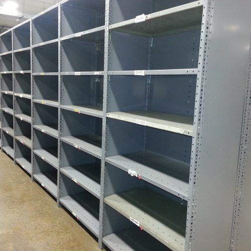 Clip Metal Shelving with Closed Back