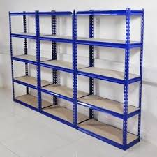 3 Sections of Rivet Metal Shelving