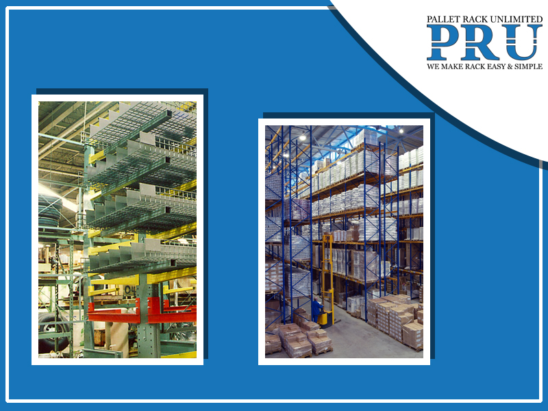 yellow-red-and-teal-colored-pallet-racks-with-loads-and-forklift-being-used-to-sgift-loads-into-blue-colored-racks