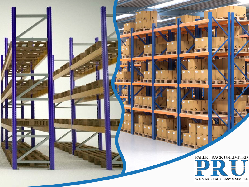 illustration-of-purple-colored-rack-and-blue-and-orange-colored-rack-with-similar-layout-design