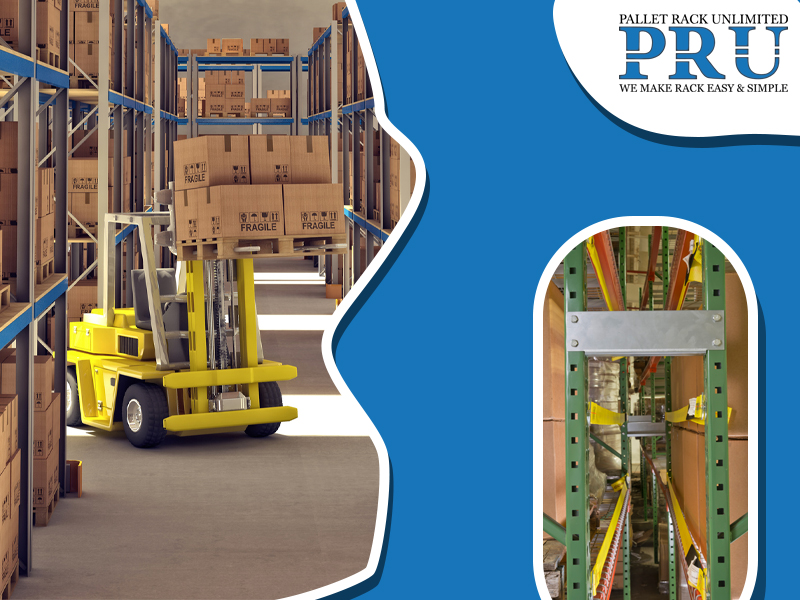 forklift-shifting-brown-boxes-into-the-racks-and-blue-red-and-yellow-colored-racks-stored-with-brown-boxes