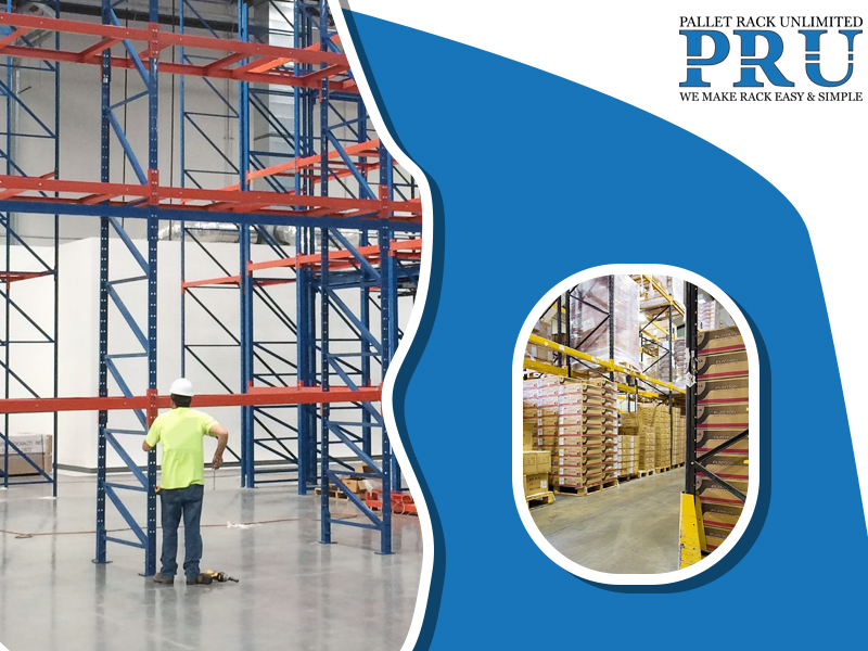 red-and-blue-colored-pallet-rack-getting-installed-by-a-professional-and-pallet-racks-storing-loads