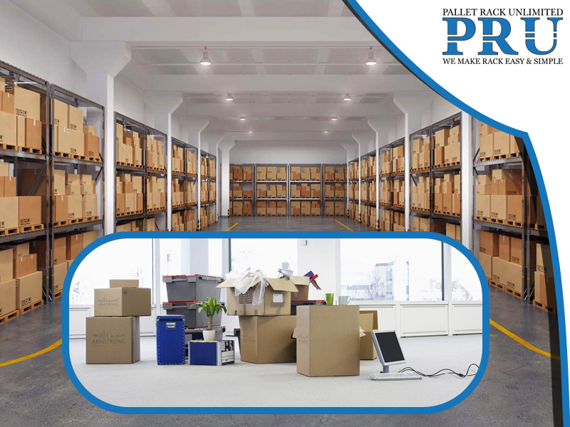 shipments-and-loads-to-be-moved-and-storage-pallet-racks-with-brown-boxes-in-background