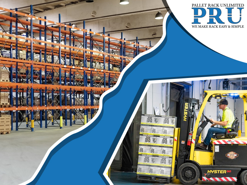 forklift-moving-load-into-the-storage-racks-and-empty-pallet-racks-in-a-warehouse